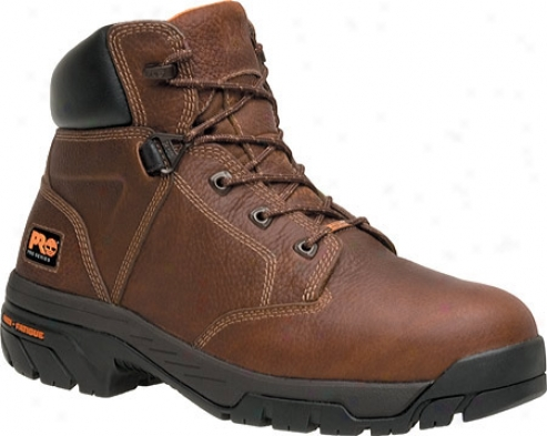 """timberland Helix Waterproof 6"""" Soft Toe (men's) - Brown Full Grain Leather"""