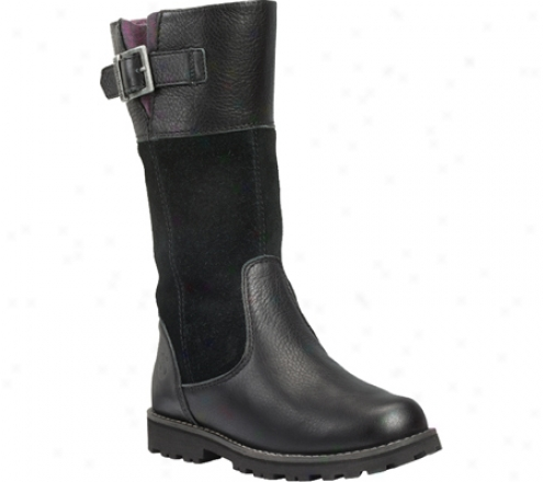 Timberland Maplebrook Tall Boot (girls') - Black Full Twentieth part of a scruple Leather/suede