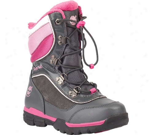 Timberland Nor'easter Waterproof Snow Boot (infants') - Wicked Grey/pink/leather/textile