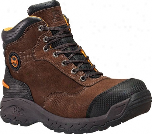 """timberland Pro Endurance 6"""" Titan Xl Safety Toe (men's) - Brown Nubuck/everguard Full Grain Leather"""