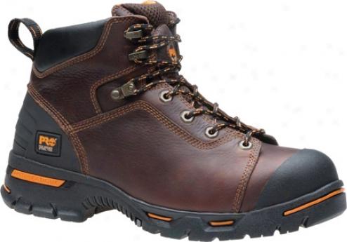 """timberland Pro Endurance Pr 6"""" Steel Toe (men's) - Brown Full Grain Leather"""