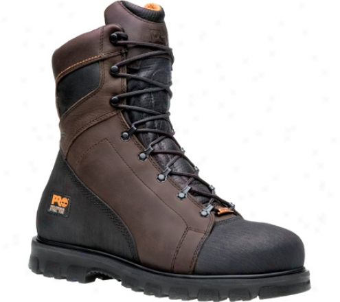 """timberland Rigmaster 8"""" Waterproof Steel Toe Ever-guard (men's) - Brown Full Grain Leather"""