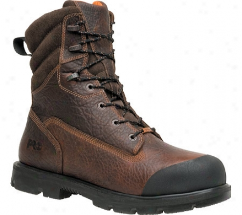 """timberland Storm Force Waterproof 8"""" Xl Compounded Toe (men's) - Brown Tumbled Full Grain Leather"""