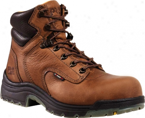"""timberland Titan 6"""" Soft Toe (women's) - Coffee Full Grain Leather"""