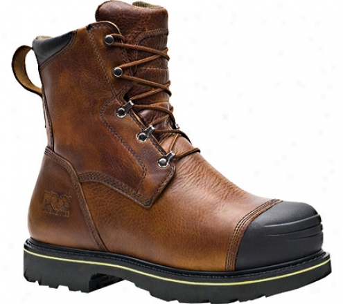 """""""timberland Warrick Smelter 8"""""""" Safety Toe Boot (men's)-  Brown Full Grain Leather"""""""