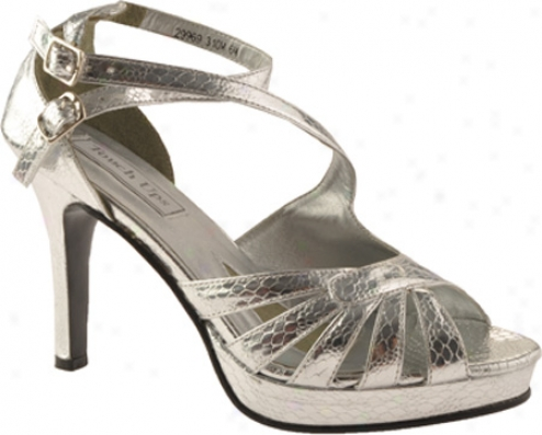 Touch Ups Marybeth (women's) - Silver Crocodile Print