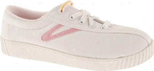 Tretorn Nylite Canvas Ps/jr (children's) - White/sea Pink