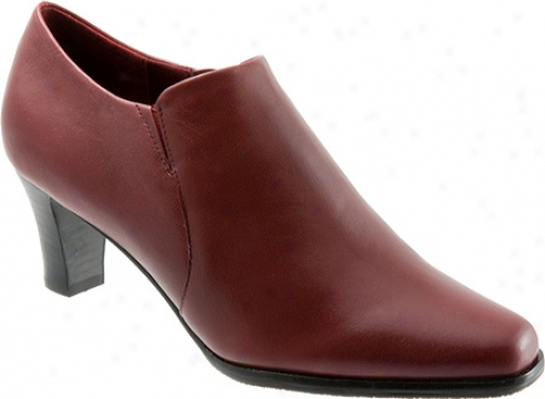 Trotters Jolie (wom3n's) - Dzrk Red Burnished Soft Kid Leather