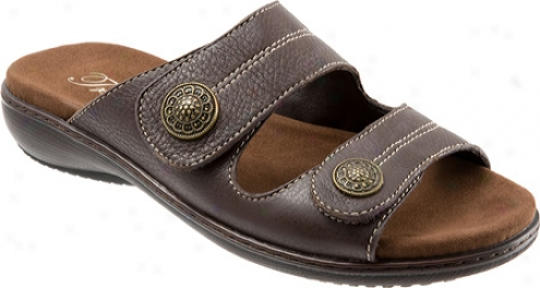 Trotters Kassie (women's) - Dark Brown Soft Tumbled Leather