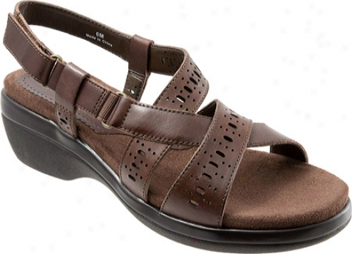 Trotters Shelby (women's) - Dark Brown Veg Calf Leather