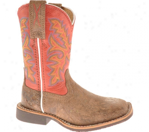 Twisted X Boots Cth0002 (children's) - Coffee Distressed/red Leather