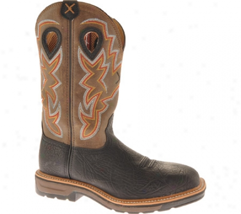 Twisted X Boots Mlcs005 (men's) - Oiled Black/brown Leather