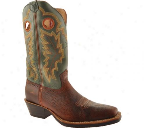 Twiste rX Boots Mrs0008 (men's) - Cognac Glazed Pebble/dark Gdeen Leather