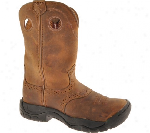 Twisted X Boots Wab0001 (women's) - Distressed Saddle/distressed Leather