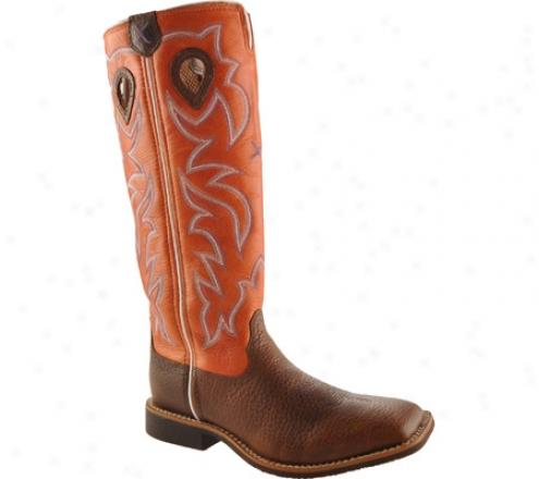 Twisted X Boots Ybk0003 (children's) - Brown Glazed Pebble/orange