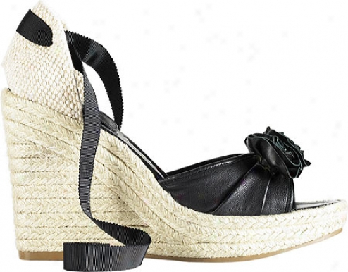 Vince Camuto Darlene (women's) - Natural Canvas/black Nappa/soft Lamb