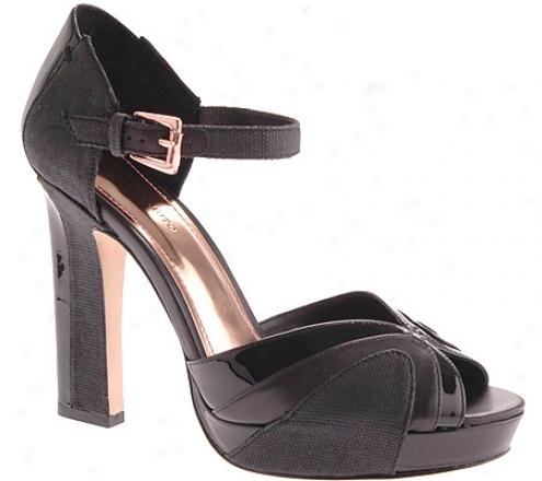 Vince Camuto Sarah (women's) - Black/black Canvas/vachetta/patent
