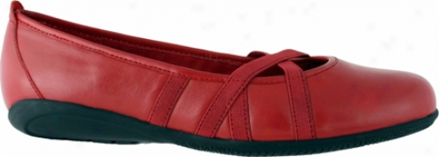Walking Cradles Faith (women's) - Bright Red Leather