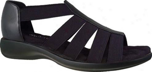 Walking Cradles Bright (women's) - Black Leather