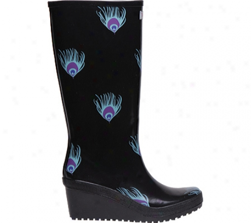 Wedge Welly Peacock (women's) - Black