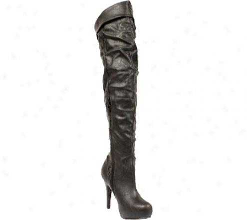Wild Diva Althea-13 (women's) - Black Polyurethahe