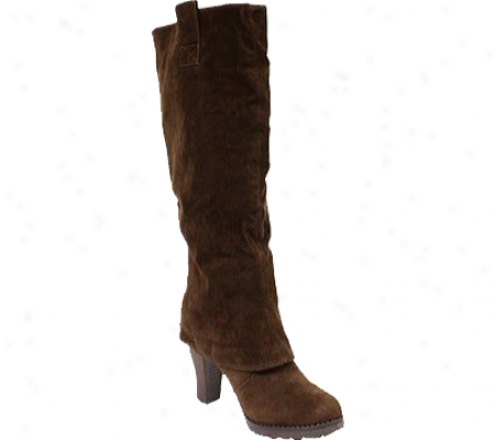 Wild Diva Gracie-03 (women's) - Brown Polyurthane Suede