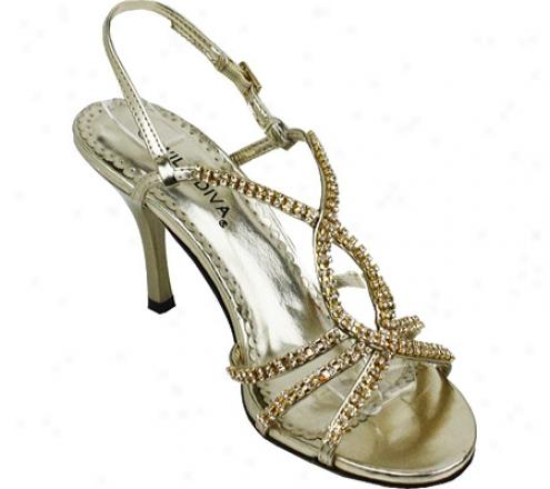 Wild Diva Heidi-32a (women's) - Gold Metallic Polyurethane