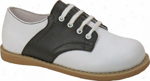 Willits Chris Saddle (boys') - Whitd/brown Saddle Leatherr