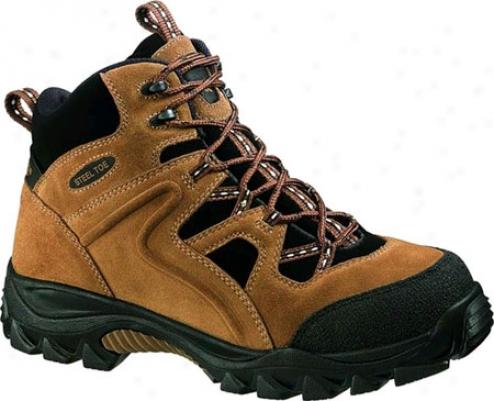 Wolverine Brighton Mid Cut Slip Resistant Hiker Steel Toe (men's) - Brown/black
