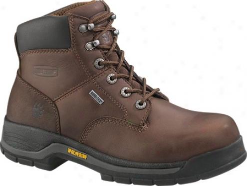 """""""wolverine Harrison Gore-tex Waterproof 6"""""""" Boot St (men's) - Brown Waterproof Full Grain Leather"""""""