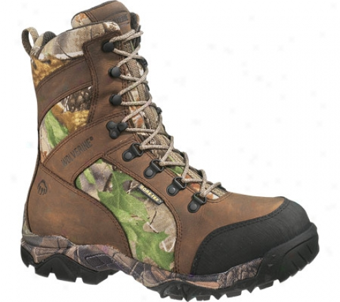 """wolverine Sportback Insulated Gore-tex Wp Boot 8"""" (men'e) - Brown/all Purpose Hd Green"""