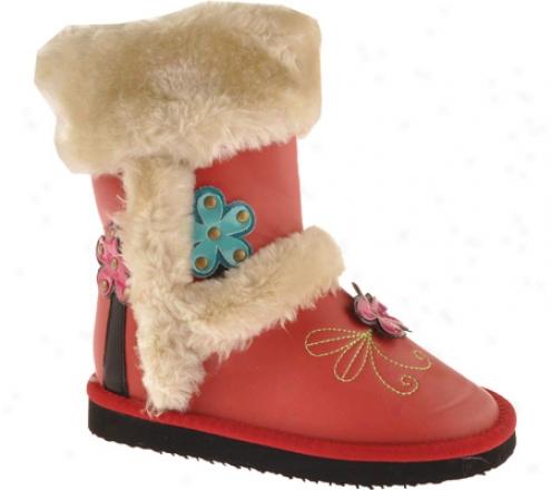 Woolenstocks Mid Woogks Ww504 (children's) - Red Polyurethane