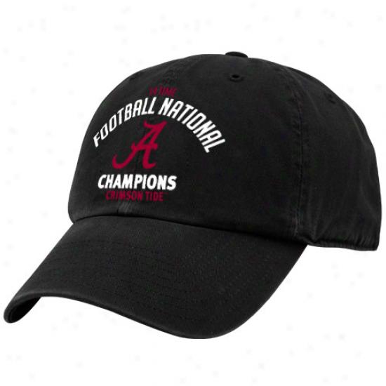 '47 Brand Alabama Crimson Current Black 2011 Bcs National Champions 14-time Champs Adjustable Hat