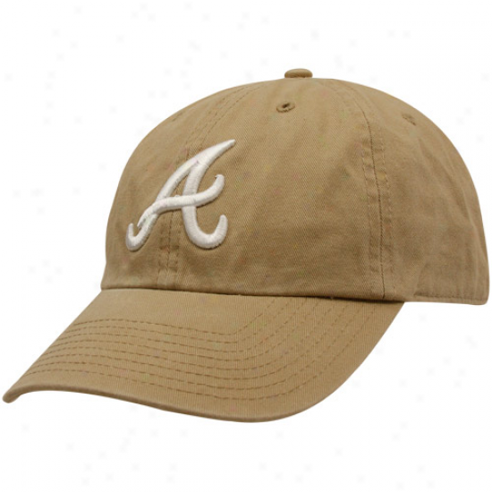 '47 Brand Atlanta Braves Khaki Cleanup Adjustable Hat
