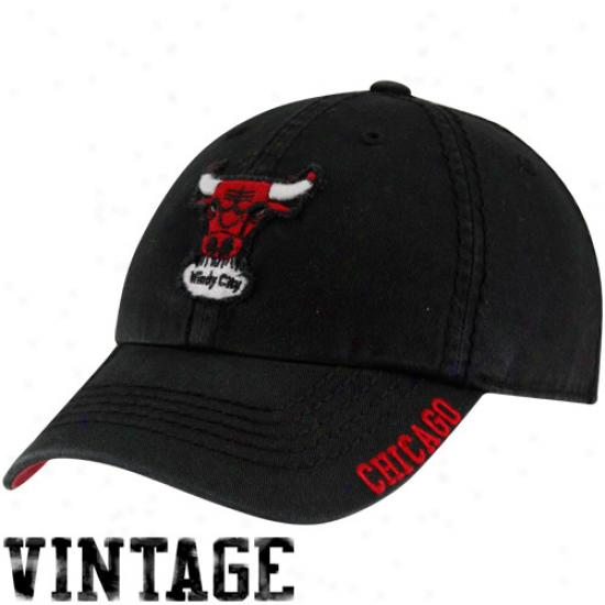 '47 Brand Chicago Bulls Black Winthrop Franchise Fit Hat