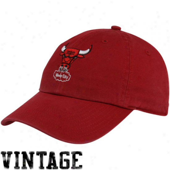 '47 Brand Chicago Bulls Red Vintage Franchise Fitted Hat