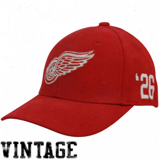 '47 Brand Detroit Red Wings Red Tradition Vintage Wool Stretch Flex Cardinal's office