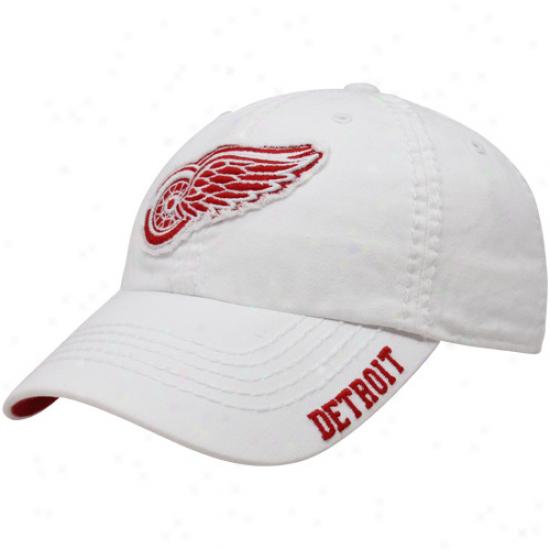 '47 Brand Detroit eRd Wings White Winthrop Flex Hat