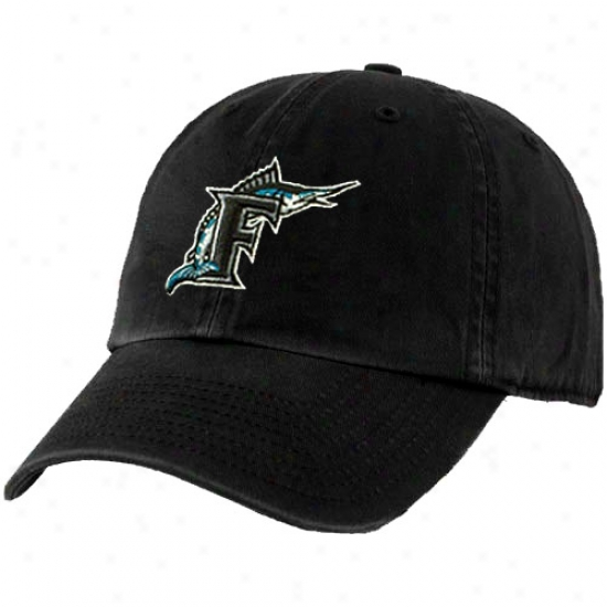 '47 Brand Florida Marlins Black Cooperstown Franchise Fitted Hat