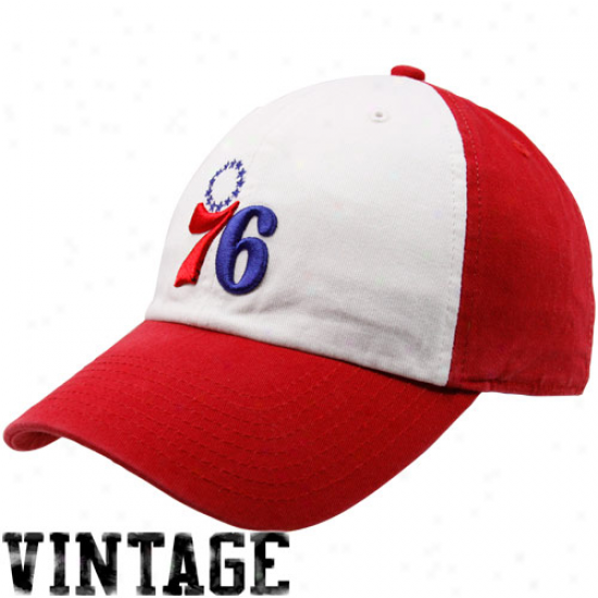 '47 Brand Philadelphia 76ers Red-white Hardwood Classics Freshman Franchise Flex Hat