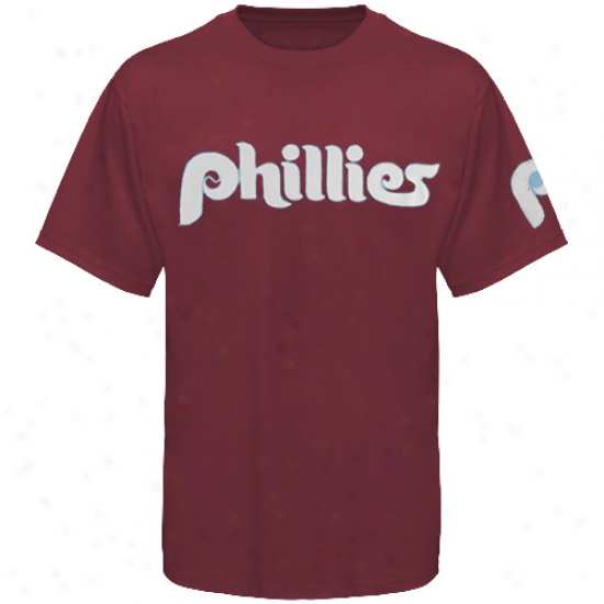 '47 Btand Philadelphia Phillies Maroon Cooperstown Fieldhouse Premium T-shirt