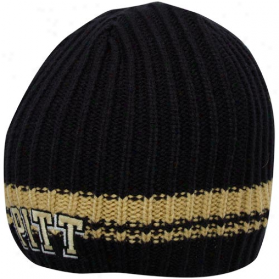 '47 Brand Pittsburgh Panthers Navy Blue Ontario Cable Knit Beanke