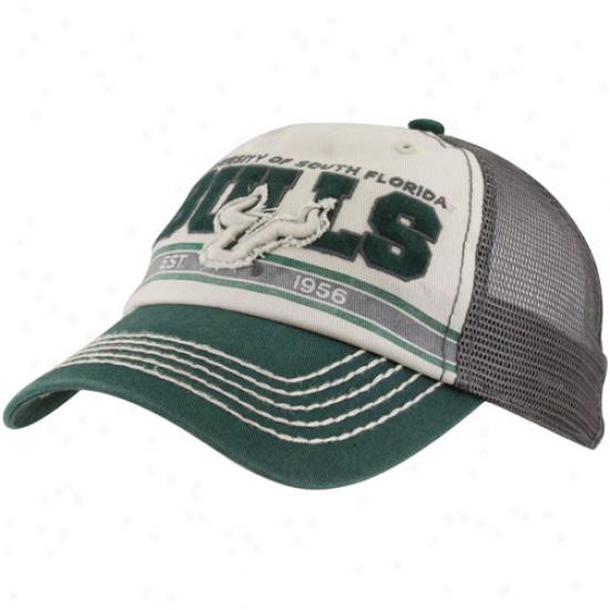 '47 Brand South Florida Bulls Natural-green Ninety-nine Mesh Back Adjustable Trucker Hat