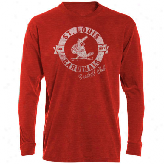 '47 Brand St. Louis Cardinals Red Vintage Annual rate  Long Sleeve Slub T-shirt