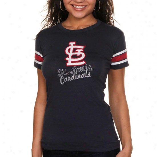 '47 Brand St. Louis Cardinals Womens Campus T-shirt - Navy Blue