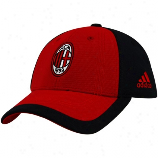 Adidas Ac Milan Red-black Club Team A-flex Hat
