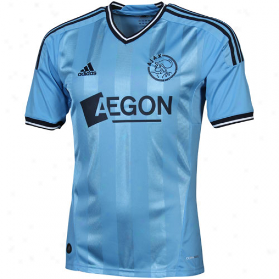 Adidas Ajax Amsterdam Away Soccer Jersey 11/12 - Light Blue