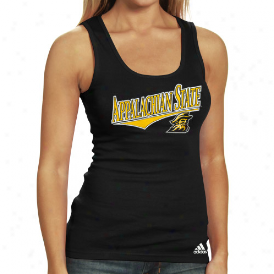 Adidas Appalachian State Mountaineers Ladies Mourning Camex Special Ribbed Tank Top