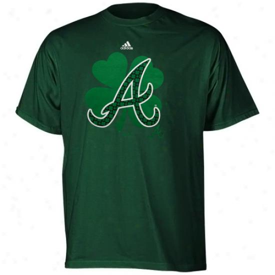Adidas Atlanta Braves Youth Clover Cluster T-shirt - Green