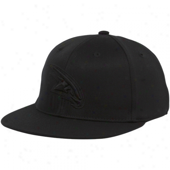 Adidas Atlanta Hawks Black Tonal 210 Fitted Hat